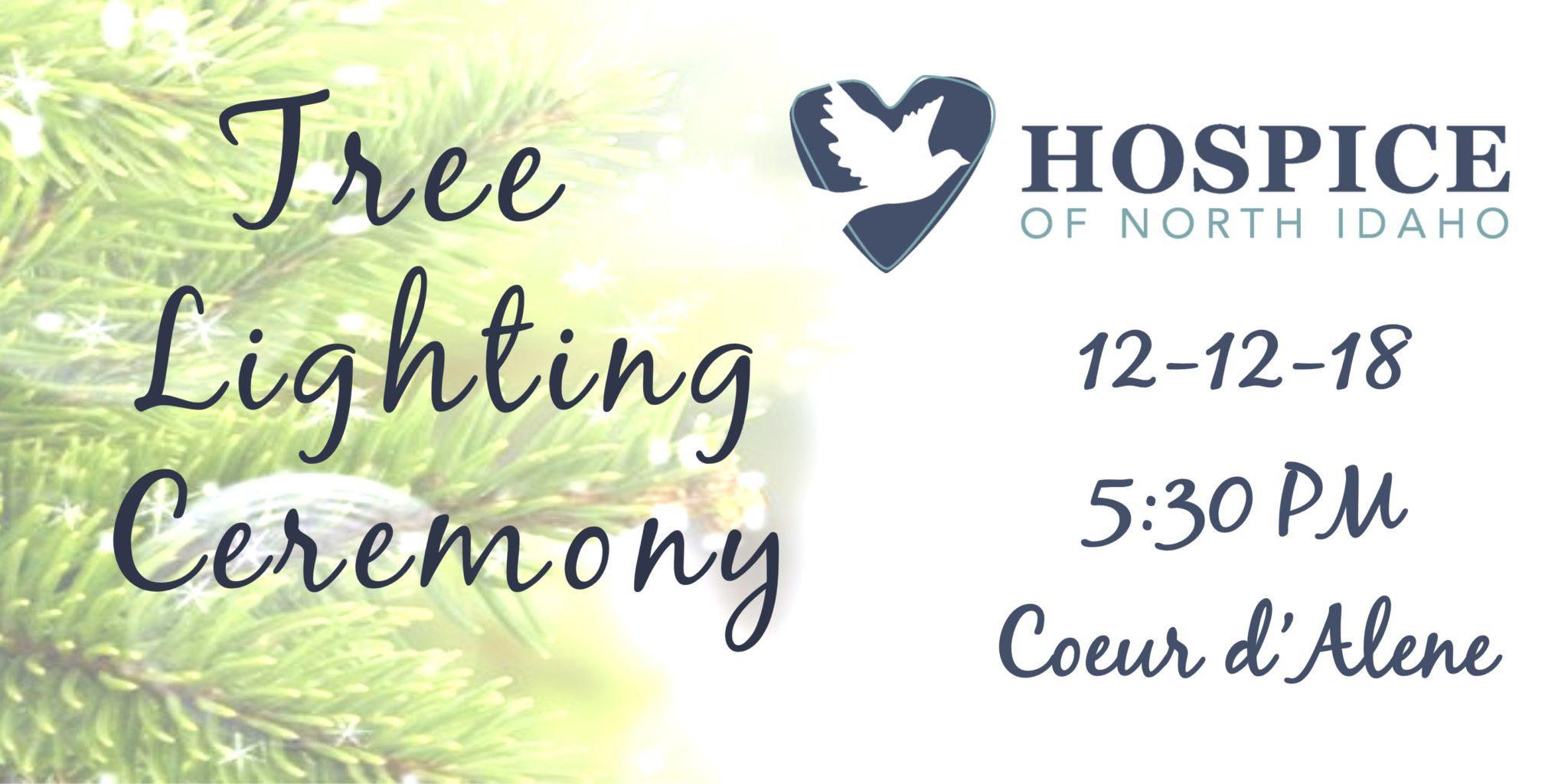 Tree Lighting Ceremony Post Falls December 12 5:00 pm HONI