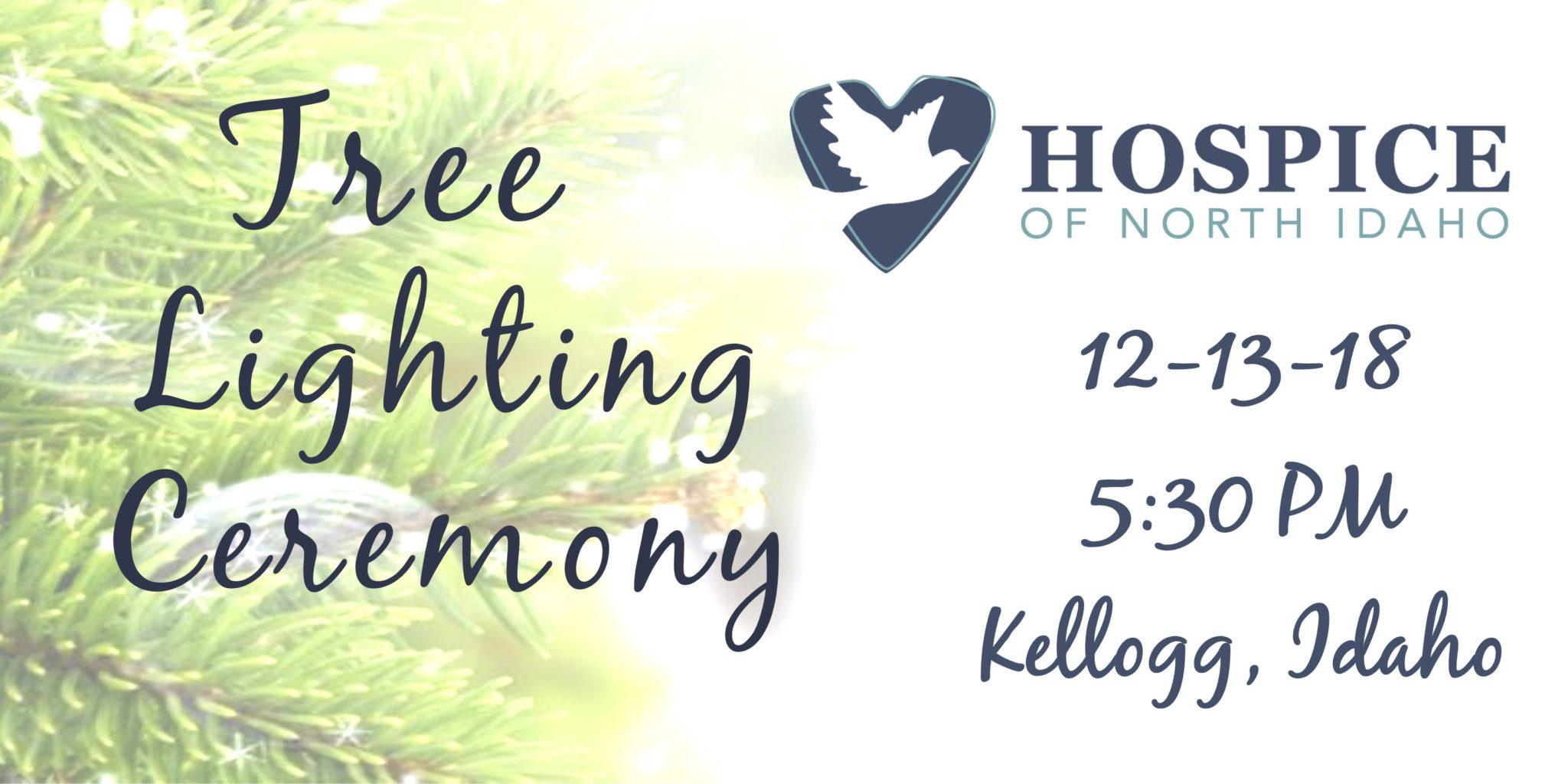 Tree Lighting Ceremony Kellogg December 13 5:30 pm Kellogg